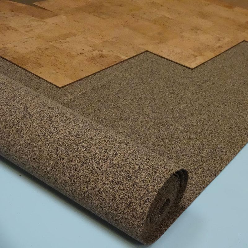 Rubber Cork Acoustic Underlay Siesta Cork Tiles