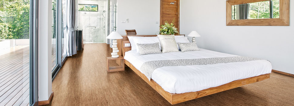 Natural Cork Flooring for bedrooms