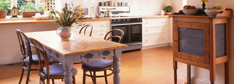 Cork floor for kitchens