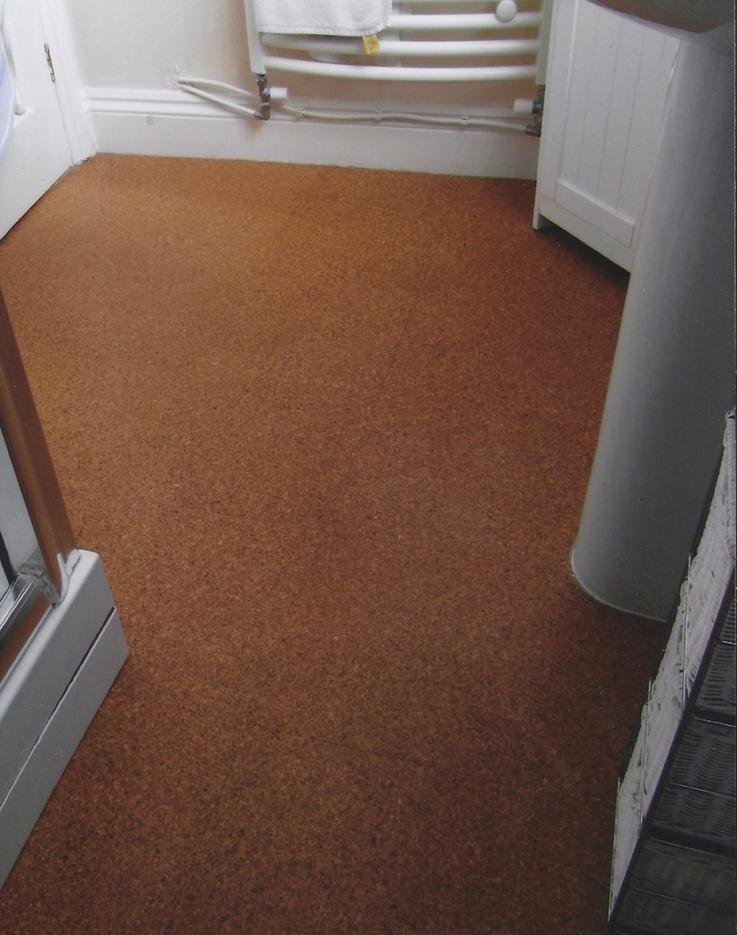 Siesta Waxed Cork Floor Tiles